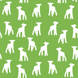 Lamb Silhouette in Greenery