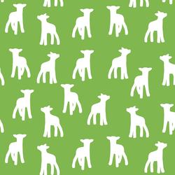 Lamb Silhouette in Greenery