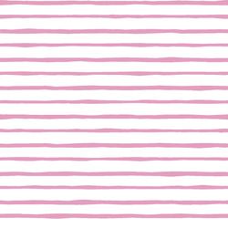 Artisan Stripe in Begonia on White