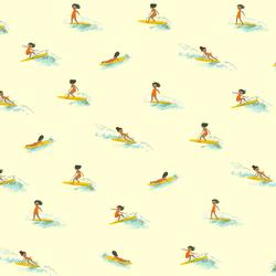 Tiny Surfers in Cream