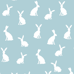 Cottontail Silhouette in Powder Blue