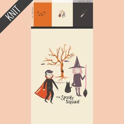 Spooky Squad Knit Panel in Spooky 'n Sweet