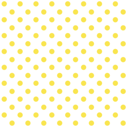 Polka Dots in Dandelion on White