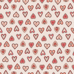 Vintage Hearts in Rouge
