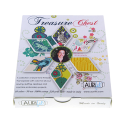 Aurifil Kit in Treasure Chest Small Spools by Frances Newcombe
