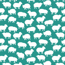Sheep Silhouette in Jade