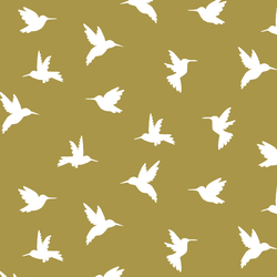 Hummingbird Silhouette in Gold