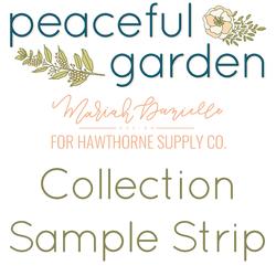 Peaceful Garden Sample Strip