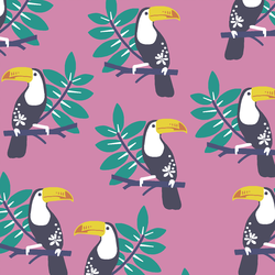 Toucans in Wisteria