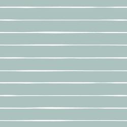 Stripe in White on Blue Lagoon