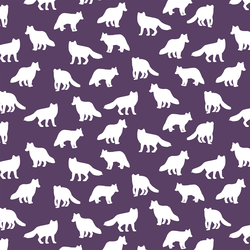 Little Fox Silhouette in Aubergine