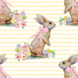 Striped Bunny Tales in Buttercup