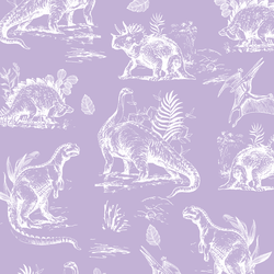 Dinosaurs in Lilac