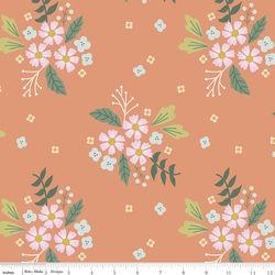 Floral in Coral
