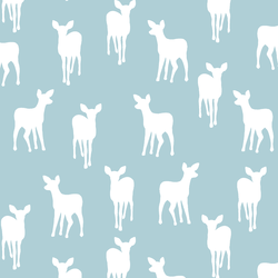Fawn Silhouette in Powder Blue