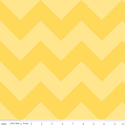 Large Chevron Tone on Tone in Yellow