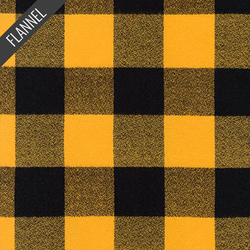 Mammoth Large Two Check Plaid Flannel in Yellow