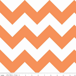 Large Chevron in Orange