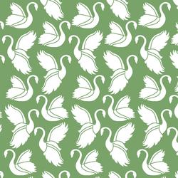 Swan Silhouette in Pistachio