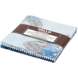 """Holiday Flourish 13 5"""" Square Pack in Blue"""