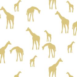 Giraffe Silhouette in Honey on White