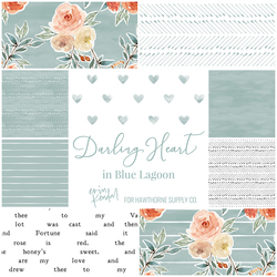 Darling Heart Fat Quarter Bundle in Blue Lagoon