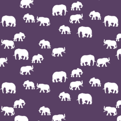 Elephant Silhouette in Aubergine