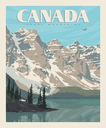 Poster Panel in Canada Rockies