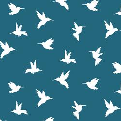 Hummingbird Silhouette in Topaz
