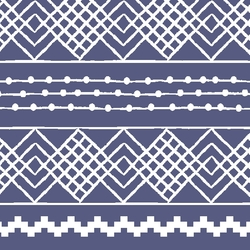 Etched Stripe in Indigo