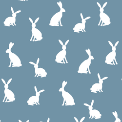 Cottontail Silhouette in Marine