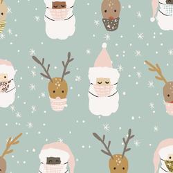 Deer Santa in Multi