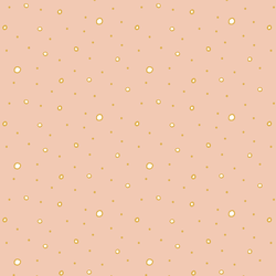 Polka Dots in Gold on Pink