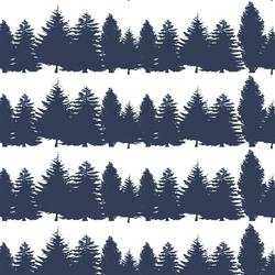 Tree Line in Navy