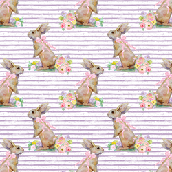 Little Striped Bunny Tales in Lavender