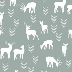 Deer Silhouette in Eucalyptus