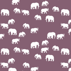 Elephant Silhouette in Mulberry