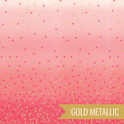 Ombre Confetti Metallic in Popsicle Pink