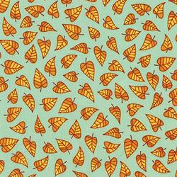 Leaves in Seafoam