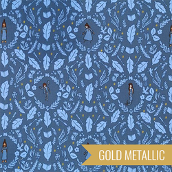 Girls Are Much To Clever in Wedgewood Metallic