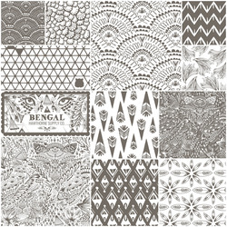 Bengal Fat Quarter Bundle in Stone