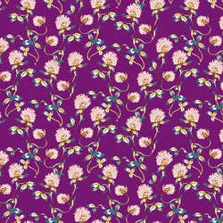 Tranquil Flowers in Plum