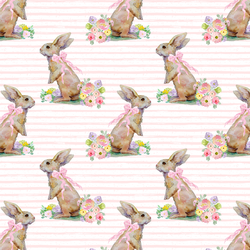 Little Striped Bunny Tales in Pale Pink