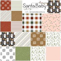 Santa Baby Fat Quarter Bundle Small Scale