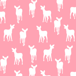 Fawn Silhouette in Rose Pink