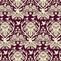 Little Antler Damask in Deep Plum