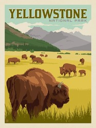 Poster Panel in Yellowstone