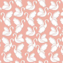 Swan Silhouette in Peony