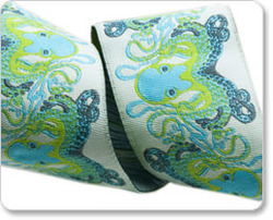 Octopus in Blue and Brown