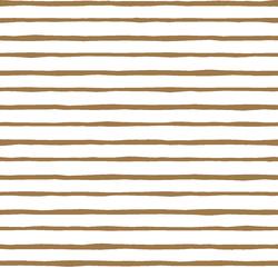 Artisan Stripe in Ochre on White